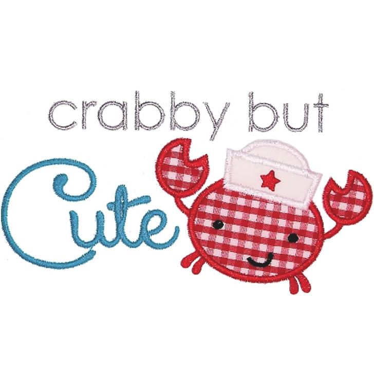 Crabby But Cute Applique