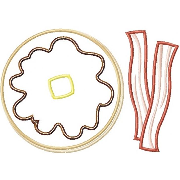 Pancakes and Bacon Applique
