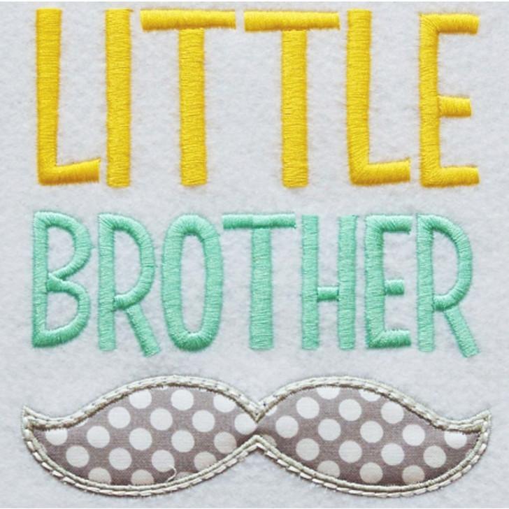 Little Brother Mustache Applique