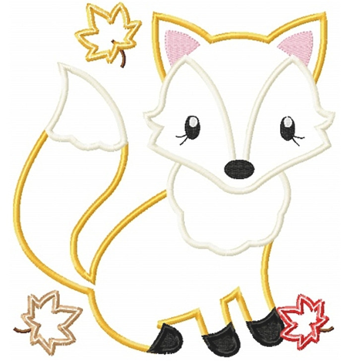 Fall Fox Applique