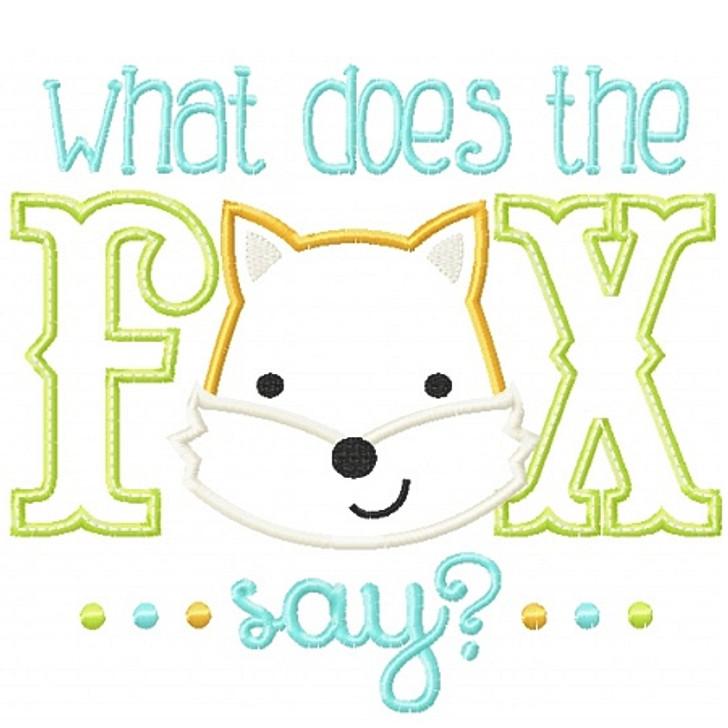 Fox Say Applique