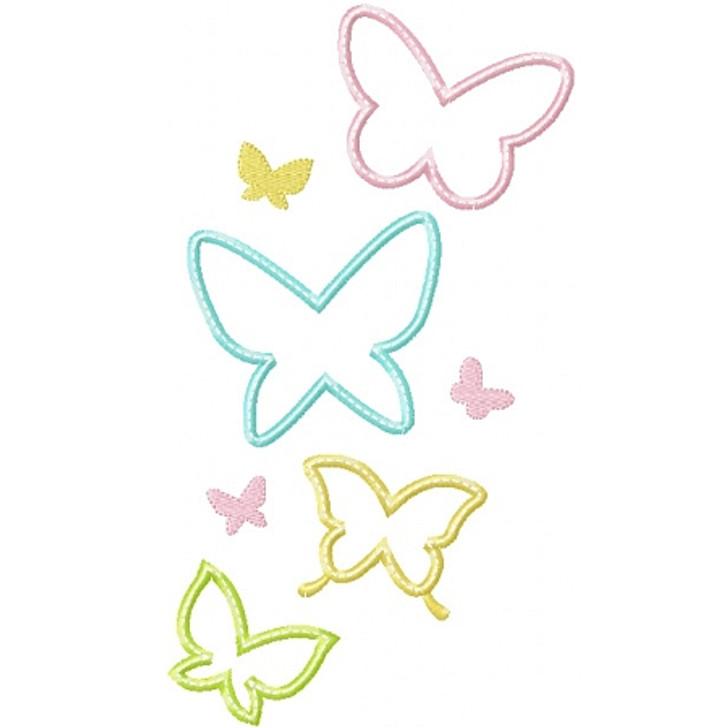 Butterfly Swarm Applique
