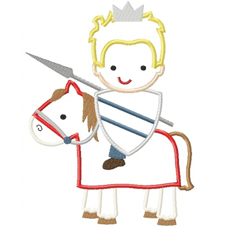 Knight on Horse Applique