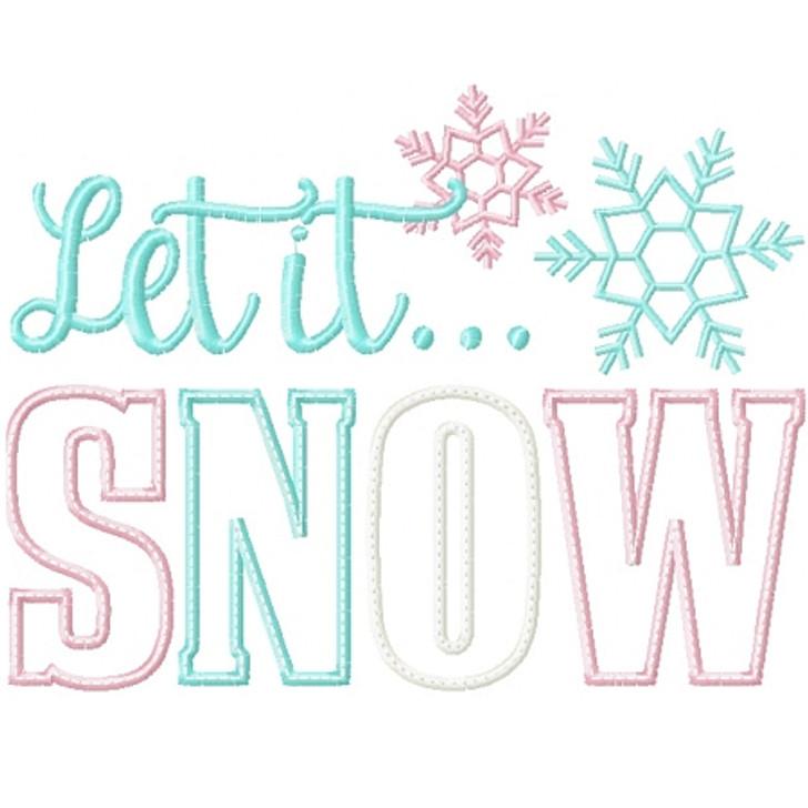 Let it Snow 3 Applique