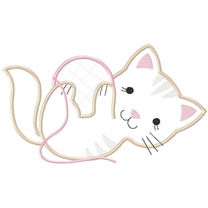 Playful Kitty Applique