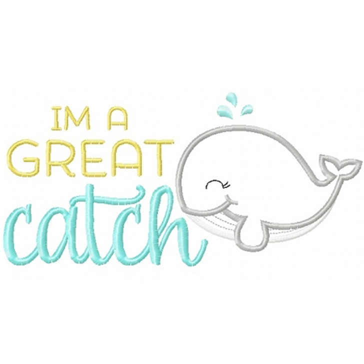 Great Catch Whale Applique