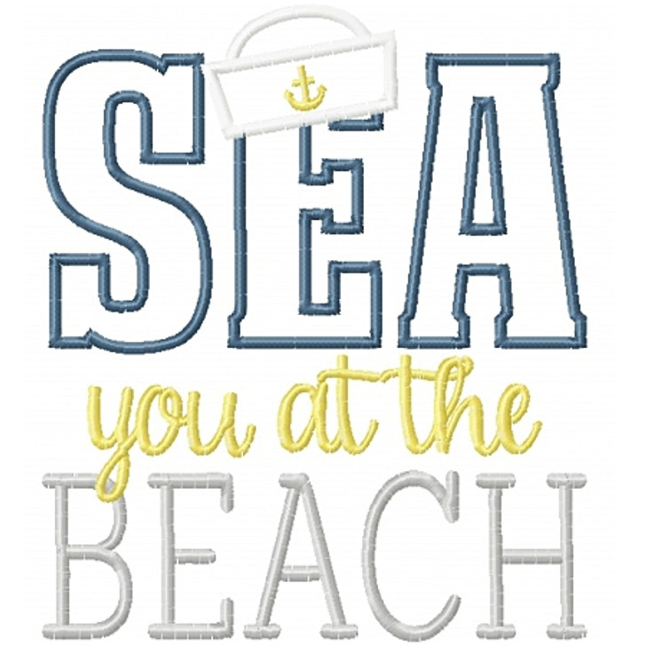 Sea you at the Beach Applique