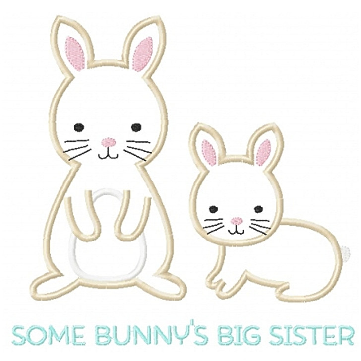Sibling Bunnies Applique