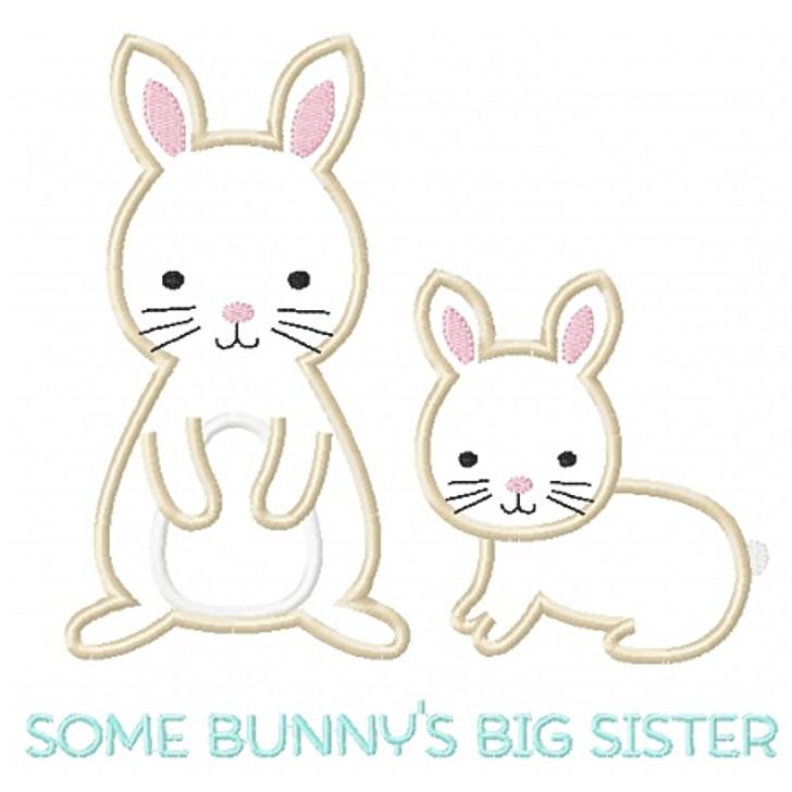 Sibling Bunnies Applique