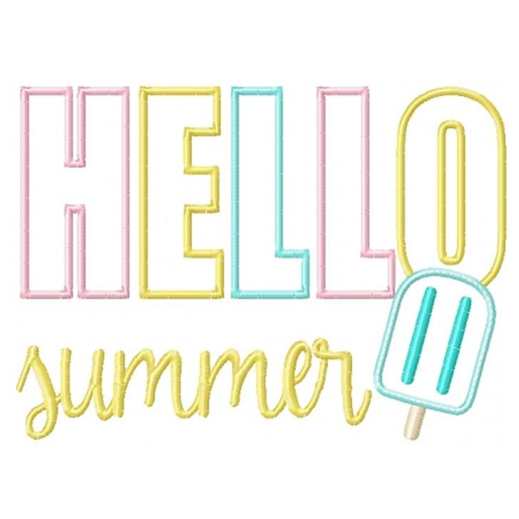 Hello Summer Applique