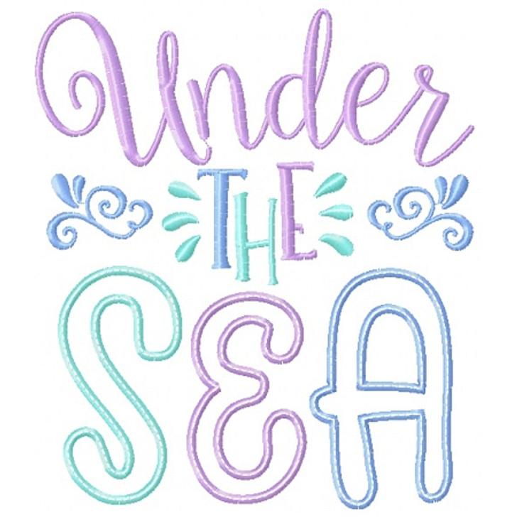 Under the Sea Applique