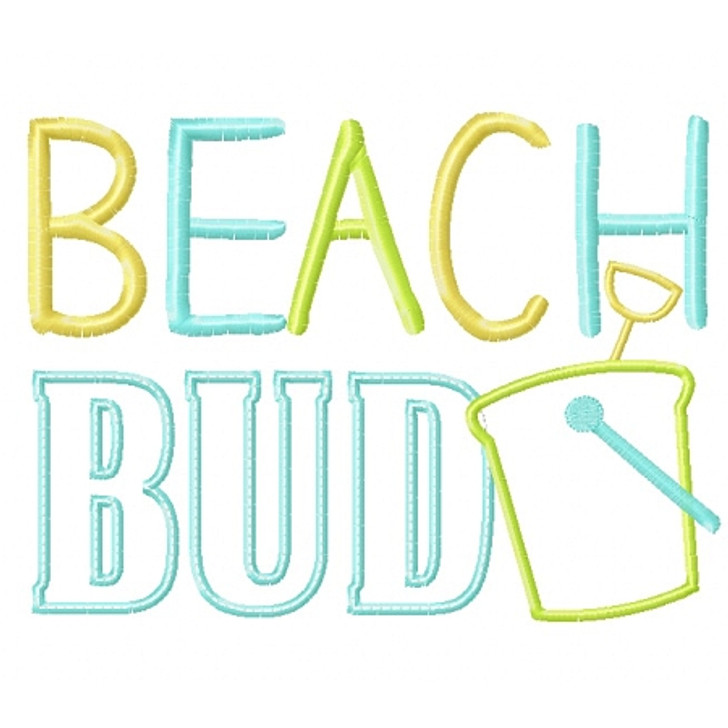 Beach Bud Applique