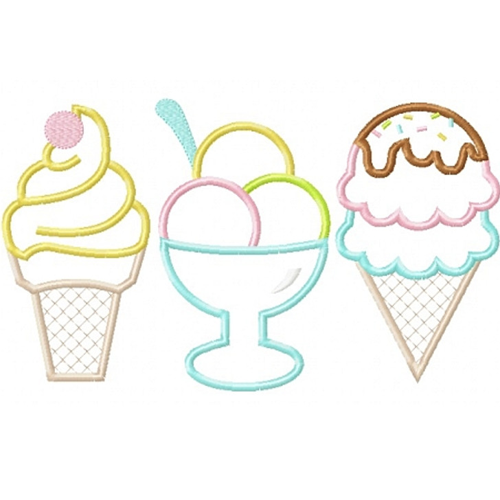 Ice Creams Applique