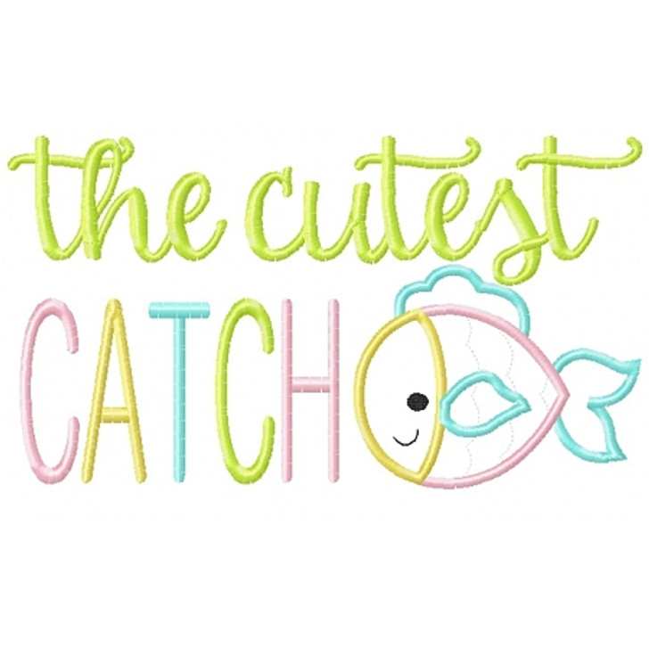 Cutest Catch Applique
