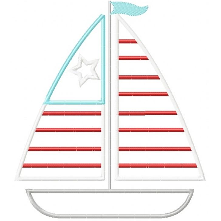 Patriotic Sailboat Applique