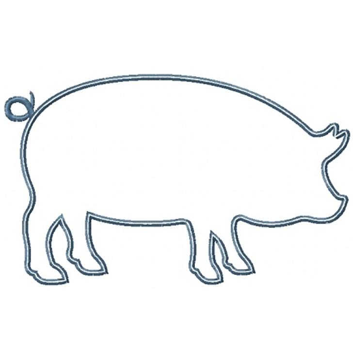 Pig Silhouette Applique