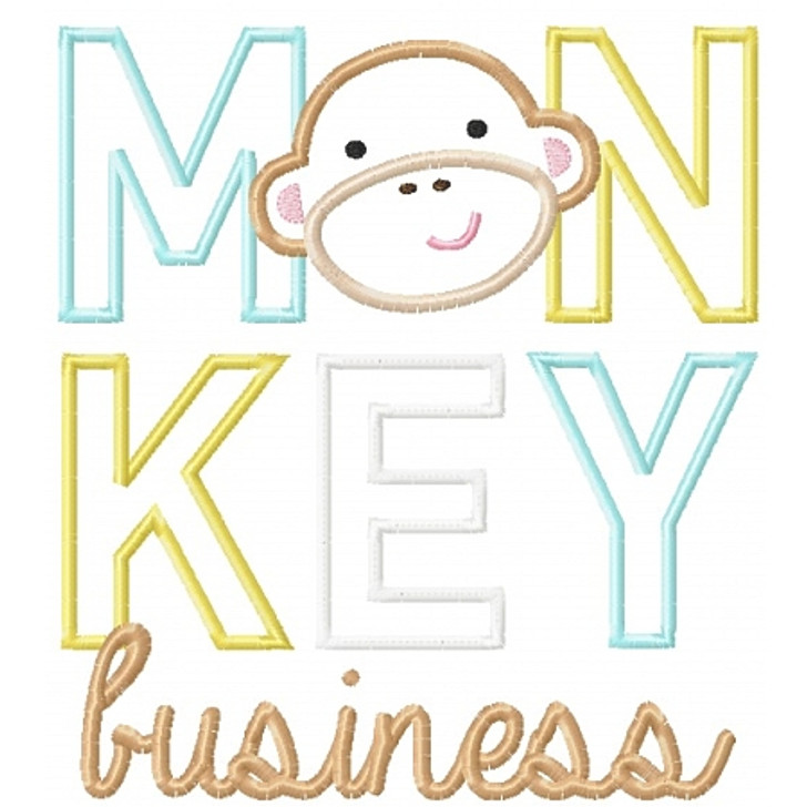Monkey Business Applique