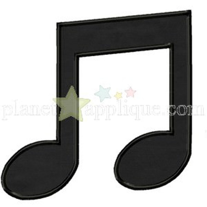 Music Note Applique