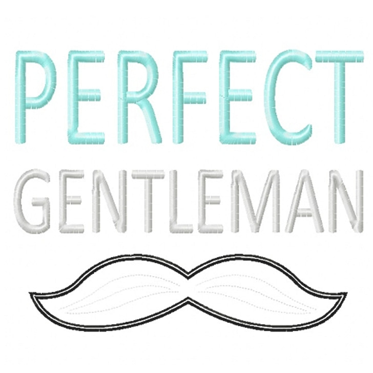 Perfect Gentleman Applique