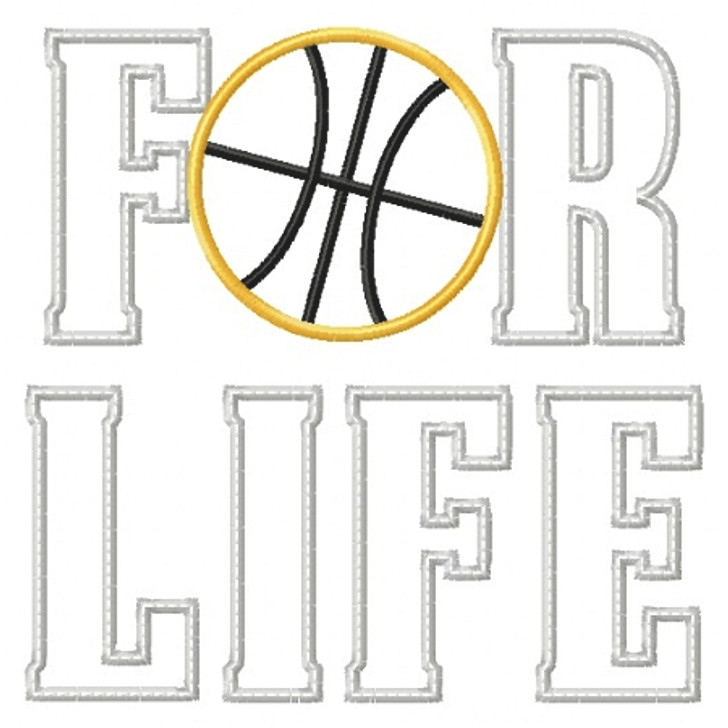 Basketball for Life Applique