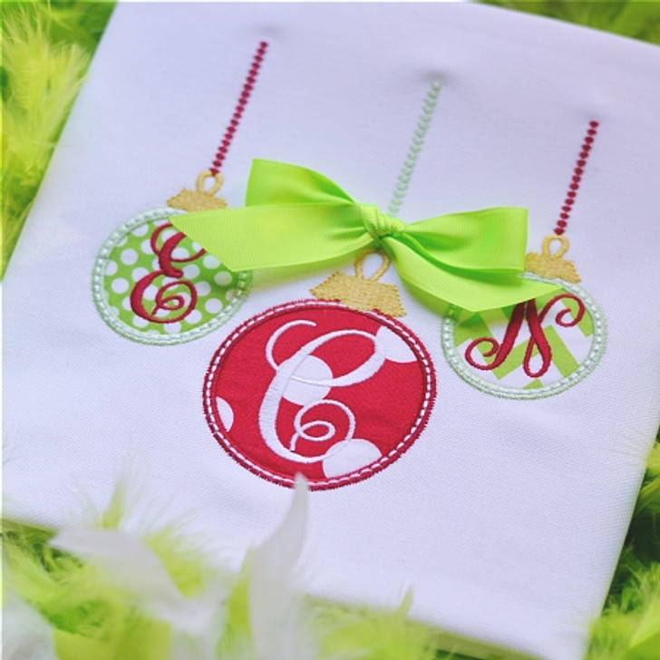Three Ornament Monogram