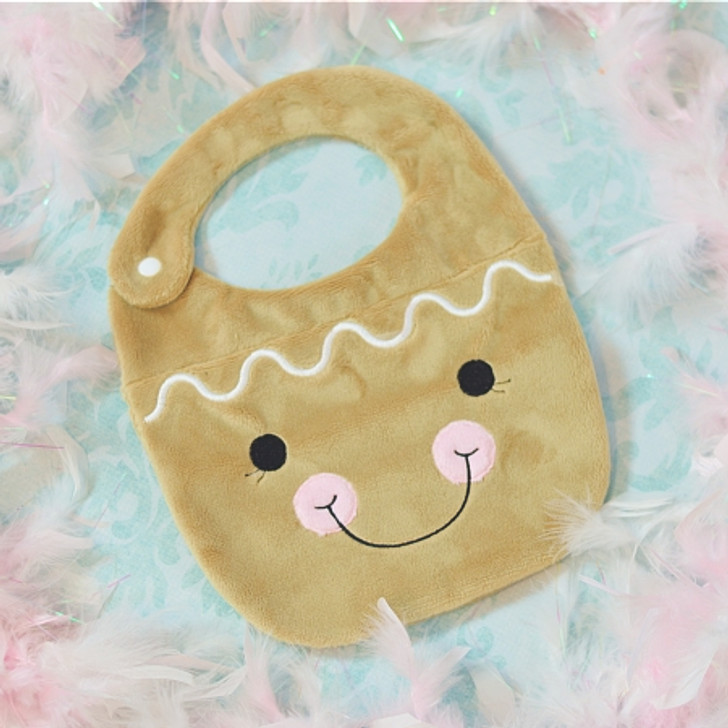 ITH Gingerbread Baby Bib