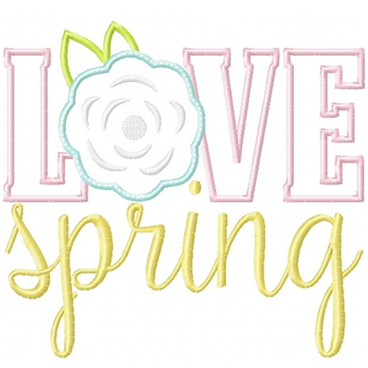 Love Spring Applique