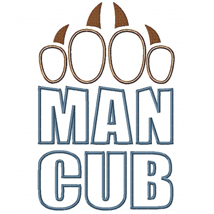Man Cub Applique