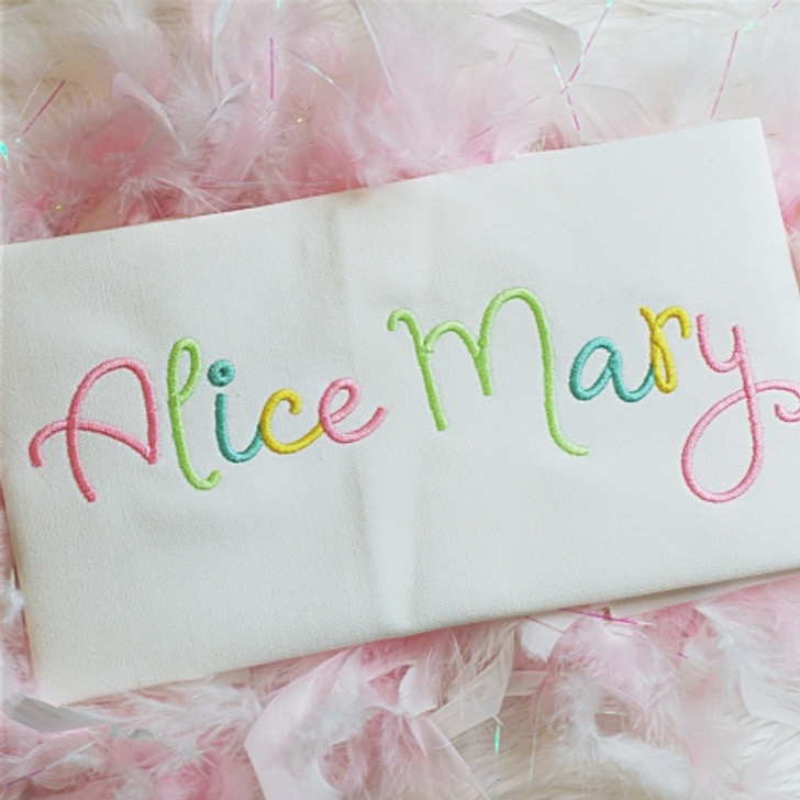 Alice Embroidery Font