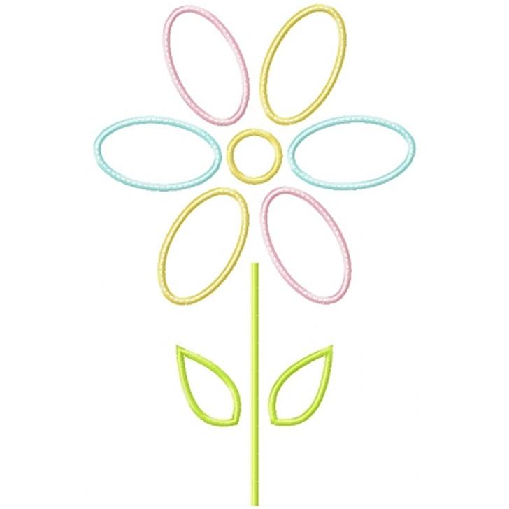 Whimsical Flower Applique