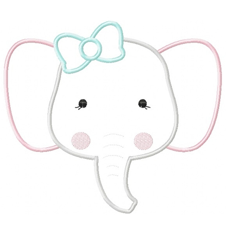 Girly Elephant Applique