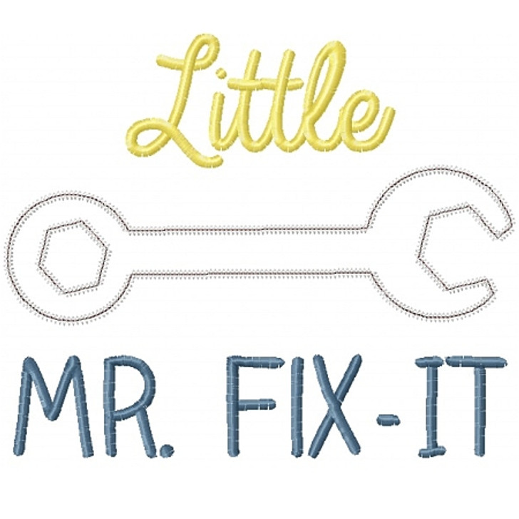 Little Mr Fix it Applique