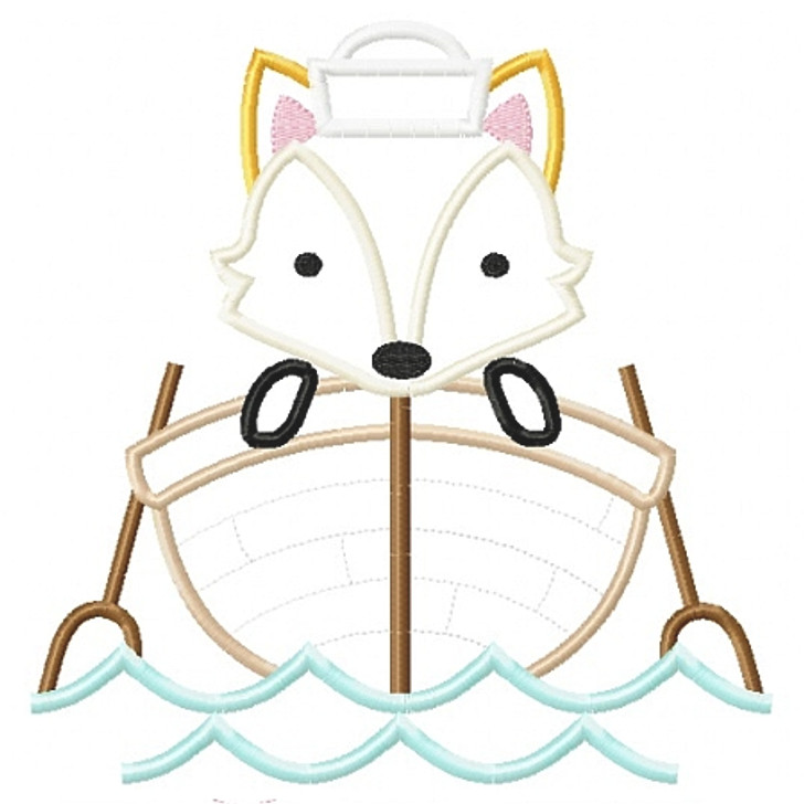 Sailboat Fox Applique