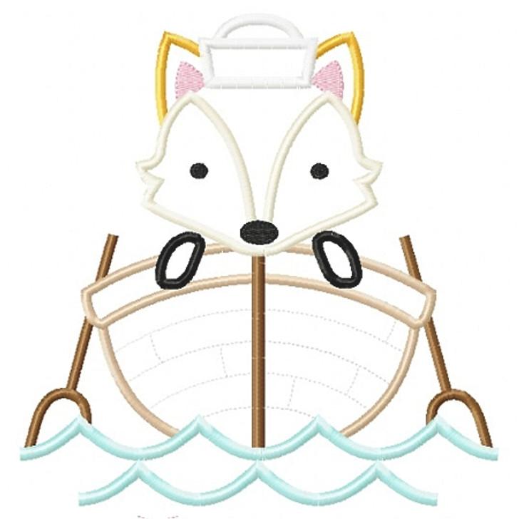 Sailboat Fox Applique