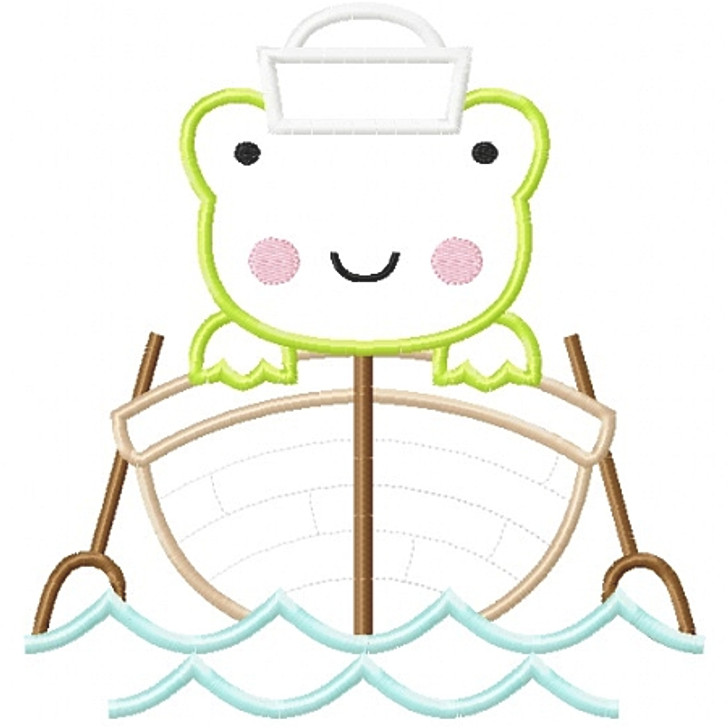 Sailboat Frog Applique