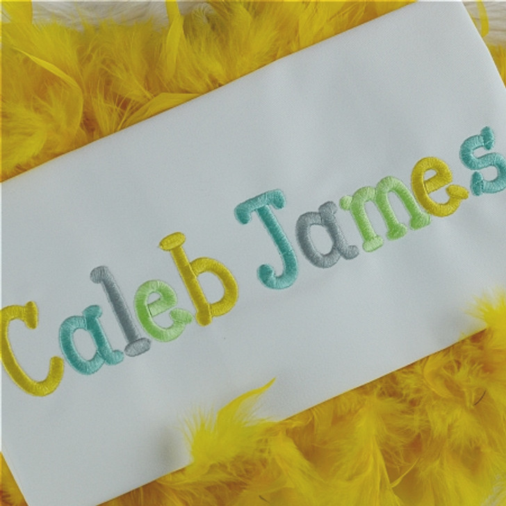 Caleb Embroidery Font Set