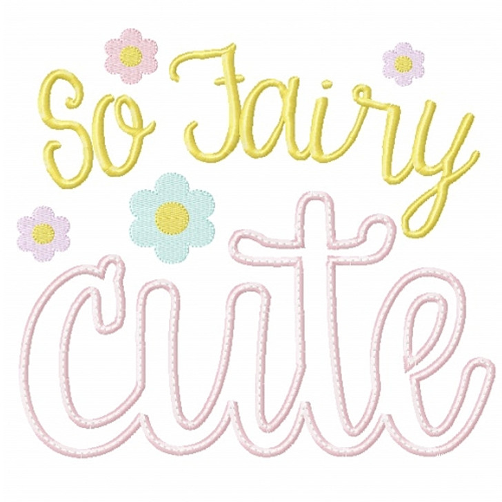 So Fairy Cute Applique