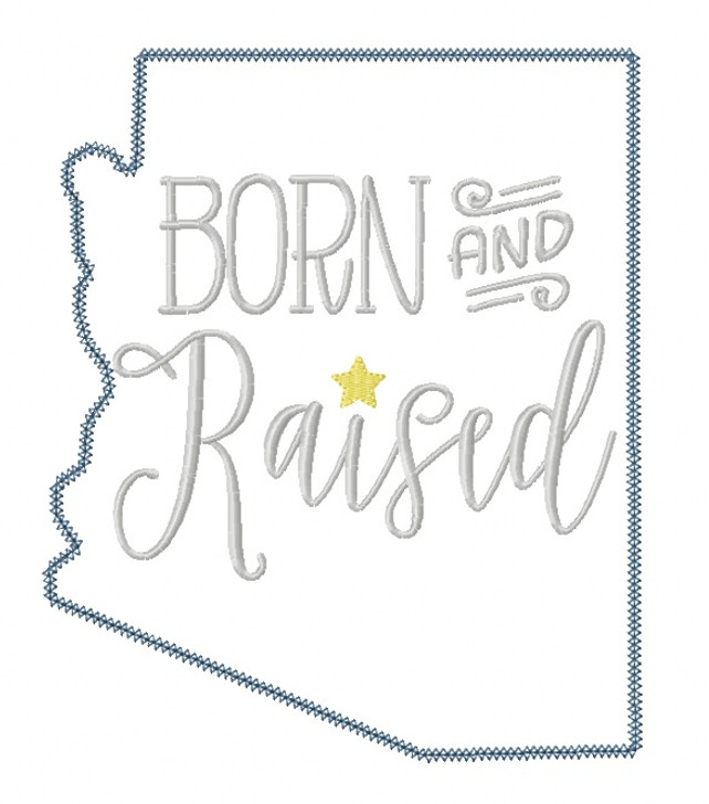 Arizona Born and Raised Blanket and Vintage Stitch Applique