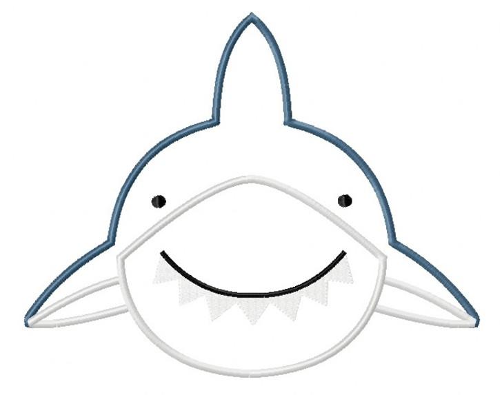 Shark 2 Satin and Zig Zag Applique