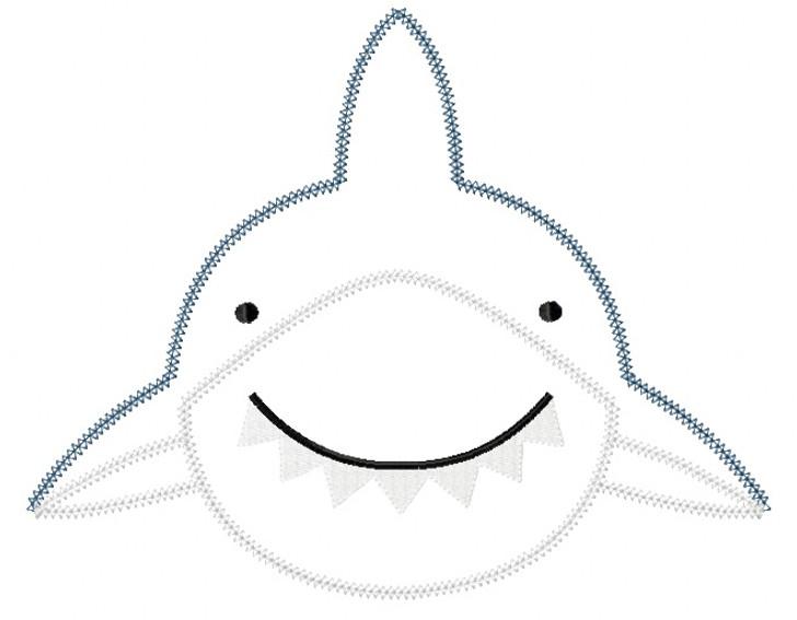 Shark 2 Blanket and Vintage Stitch Applique