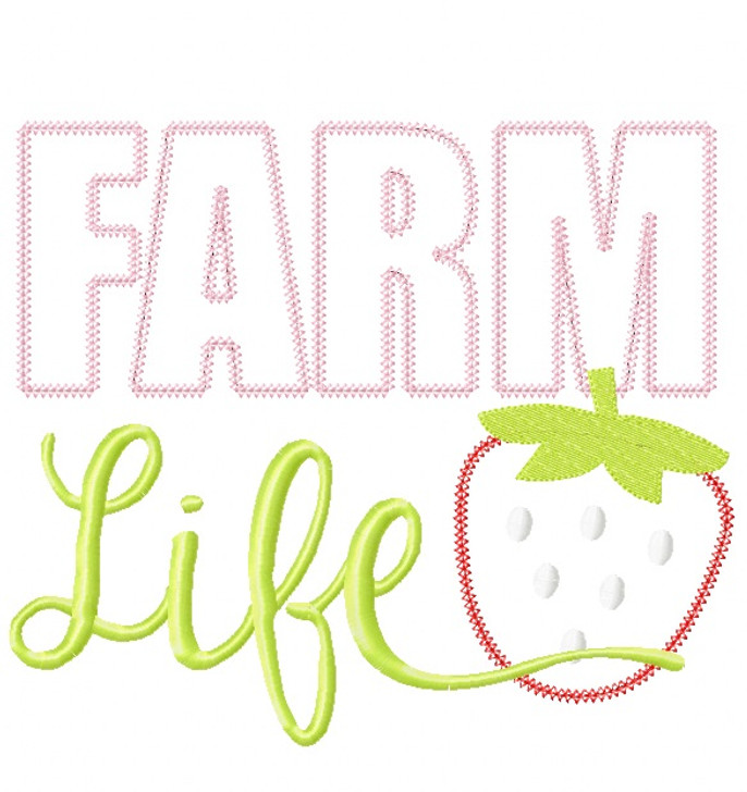 Farm Life Vintage and Blanket Stitch Applique