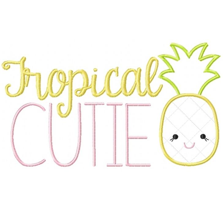 Tropical Cutie Applique