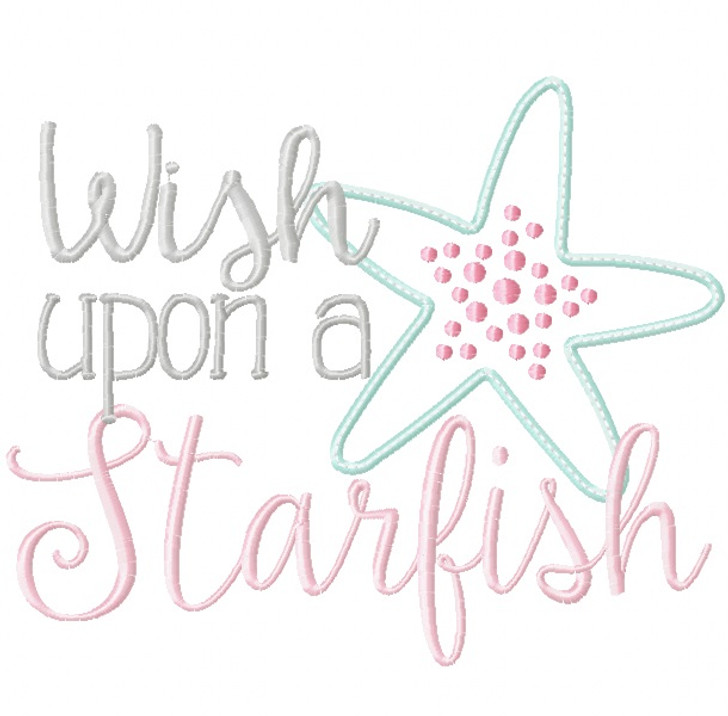Wish Upon a Starfish Vintage and Blanket Stitch Applique