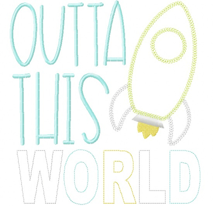 Outta This World Vintage and Chain Stitch Applique