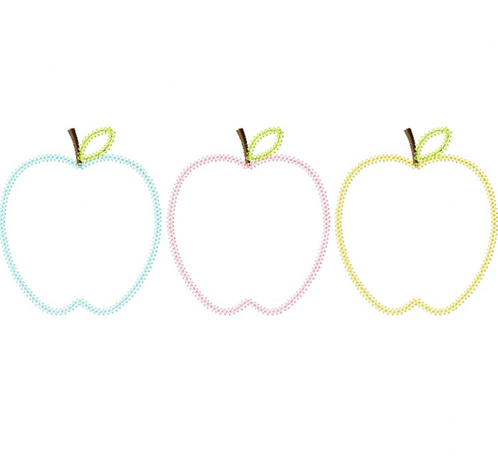 Apples Vintage and Blanket Stitch Applique