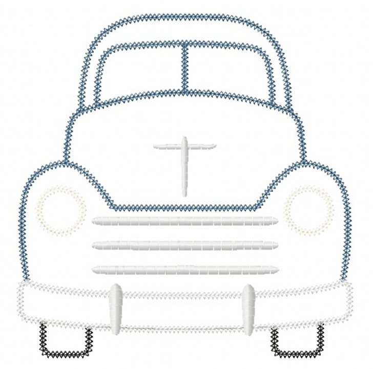 Vintage Truck Vintage and Chain Stitch Applique