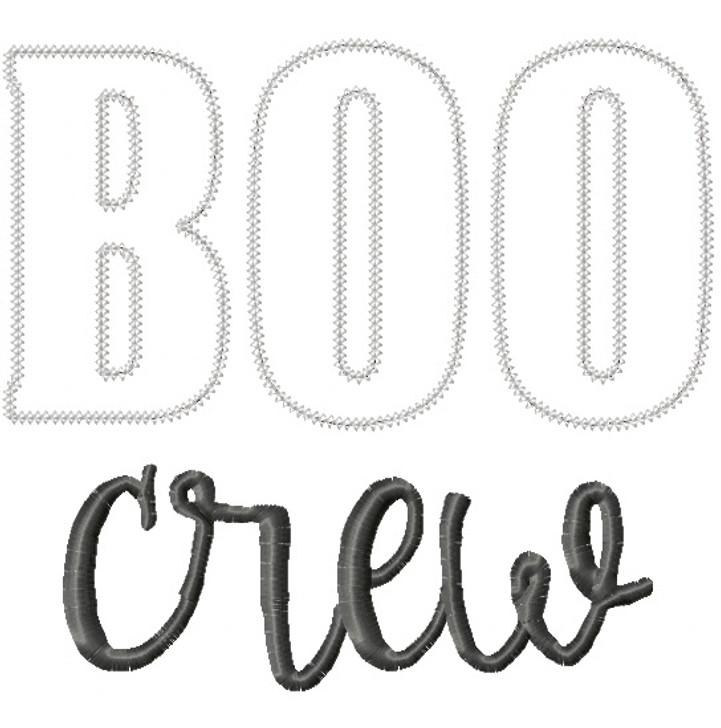 Boo Crew Vintage and Chain Stitch Applique