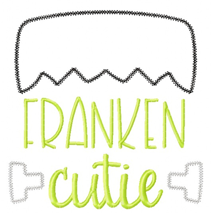 Franken Cutie Vintage and Chain Stitch Applique