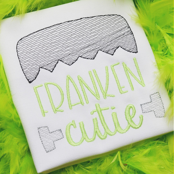 Franken Cutie Sketch Embroidery