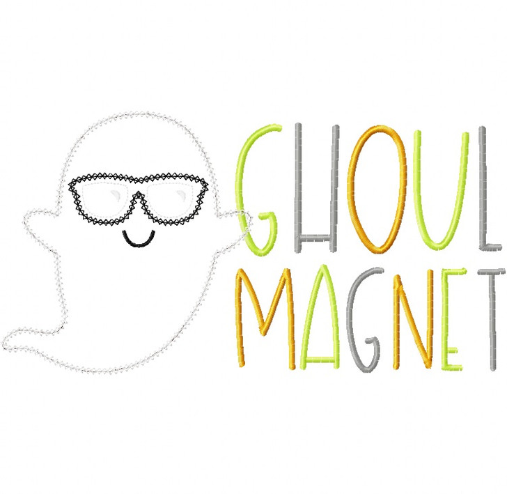 Ghoul Magnet Vintage and Chain Stitch Applique